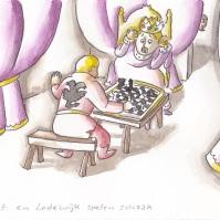 Lodewijk verliest het schaakspel van Adelaert